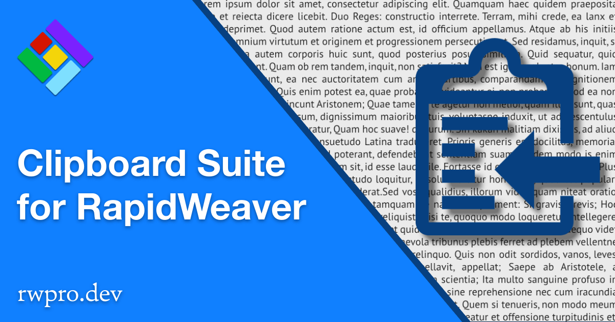 Clipboard Suite of Stacks for RapidWeaver