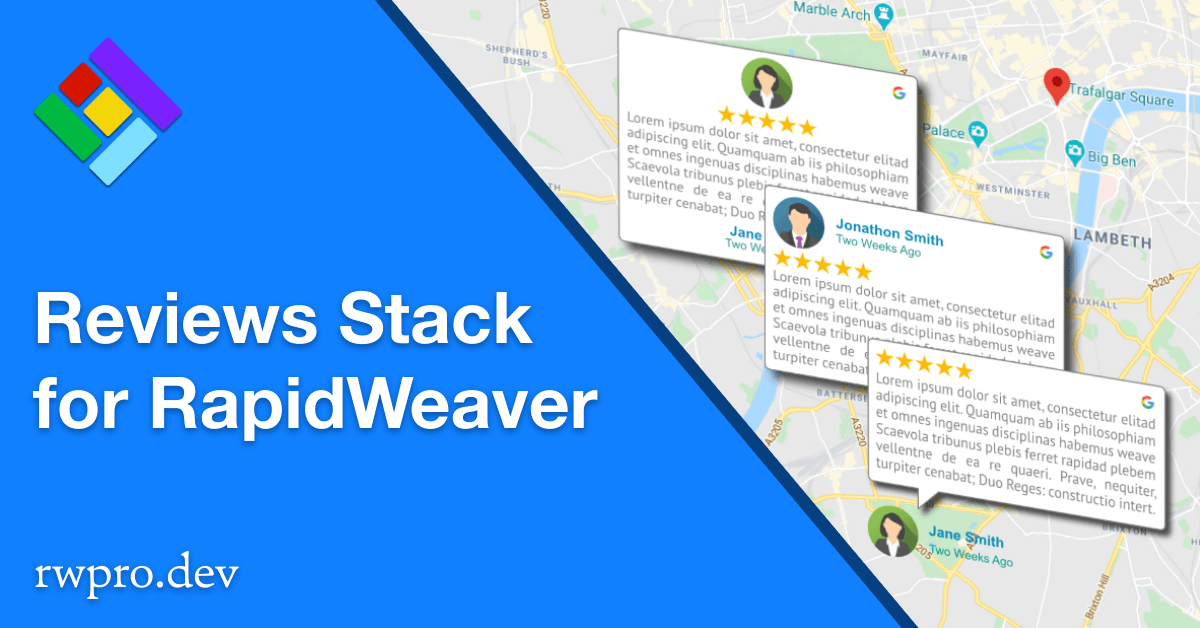 Google Reviews Stack for RapidWeaver