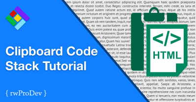 Clipboard Code Stack Tutorial