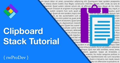 Clipboard Stack Tutorial