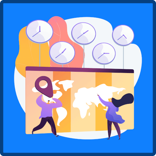 Timezone Support Icon