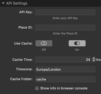 API Settings