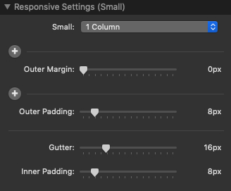 Responsive Settings (Small)